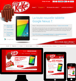 Android™ KitKat® contest to win 1000 Google Nexus 7.